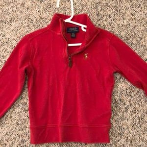 Red Polo half zip 3T